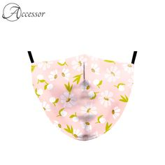 Daisy Print Reusable Fabric Face Mask  Price: 34.99 & FREE Shipping