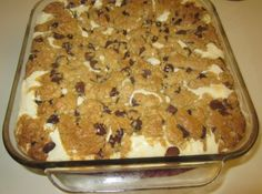 Baked Peanut Butter Chocolate Chips Cheesecake Bars