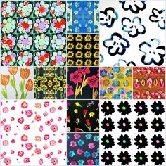 mano's welt: mustermittwoch - blumiges zum ersten Quilts, Blanket, Pattern, Prints, Wednesday, Stamp, World, Blankets, Patch Quilt