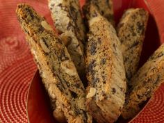 """Chocolate Peanut Butter Biscotti : Impress friends and family with these """"highbrow"""" munchies — they're like crunchy peanut butter cups!"""
