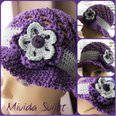 crocheted hat made od 100% cotton thread