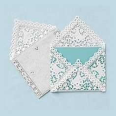 lace doily envelope