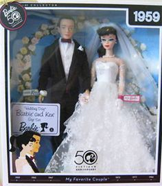 Wedding Day Barbie Doll and Ken Doll Giftset was released in 2009 as part of the My Favorite Barbie series in celebration of Barbie's 50th Anniversary.