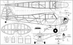 The Piper Cub is one of the model airplane plans available for download and printing.