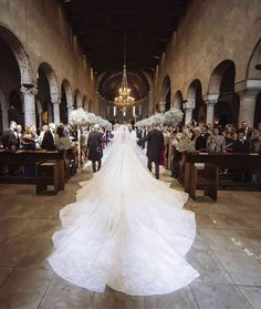 Michael Cinco makes wedding dress for Swarovski scion–'They brought three suitcases full of crystals' Extravagant Wedding Dresses, Beautiful Wedding Gowns, Luxury Wedding Dress, Wedding Dress Trends, Long Wedding Dresses, Couture Wedding Dresses, Swarovski Wedding Dress, Wedding Dress Long Train, Cathedral Wedding Dress