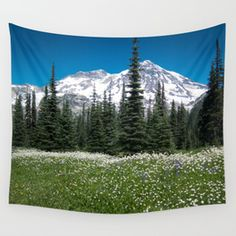 Mt. Rainier Wildflowers 2017 Wall Tapestry
