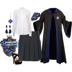 Uniforme casa Ravenclaw discovered by Harry Potter Welt, Harry Potter Uniform, Hogwarts Uniform, Harry Potter Cosplay, Harry Potter Halloween, Harry Potter Style, Harry Potter Outfits, Harry Potter Diy, Harry Potter Hogwarts