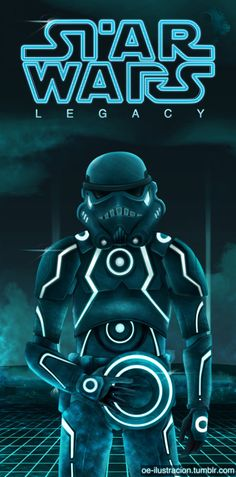 Stormtrooper -Star Wars/Tron Legacy by Fluorescentteddy Star Wars Trivia, Star Wars Facts, Geeks, Star Wars Legacy, Stormtrooper, Tron Legacy, The Force Is Strong, Disney Star Wars, Love Stars