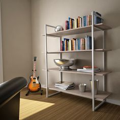 Modern Bookshelf Styling / Campus suite furniture design by Ecologic Furniture - Contemporary lines, metal frames, and many finish options