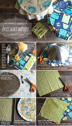 Ok who wants to barter me some bees wax? Bees Wax Cloth Wrap to Replace the Plastic Wrap in My Kitchen Diy Beeswax Wrap, Sewing Crafts, Sewing Projects, Diy Projects, Sewing Tips, Sewing Tutorials, Bees Wax Wraps, Bees Wax Wrap Diy, Reduce Reuse Recycle