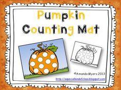 Pumpkin Counting Mat Freebie
