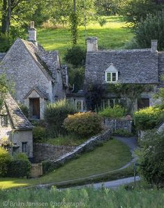 'Double Cottage' Style English Country Home, with Naturalistic Gardens.