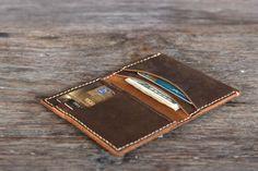 Breast Pocket Wallet Leather Wallet Handmade Leather by JooJoobs