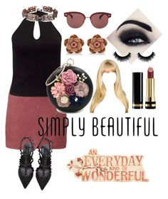 """""""Simply Beautiful"""" by gigiglow ❤ liked on Polyvore featuring Michelle Mason, Valentino, Miss Selfridge, WithChic, Sole Society, Allurez, Gucci and Oliver Peoples"""