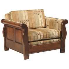 Amish Versailles Lounge Chair (100.175 RUB) ❤ liked on Polyvore featuring home, furniture, chairs, accent chairs, brown accent chair, colored furniture, brown furniture, brown chair and heavy duty chair