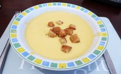 Creamy Veggie Soup Recipe Soups with zucchini, pumpkin, potatoes, celery, onions, leeks, veggies, Equal Sweetener, Philadelphia Cream Cheese, salt, pepper, grated nutmeg, olive oil
