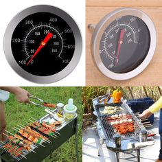 Stainless Steel Probe Thermometer Gauge For BBQ Meat Food Kitchen Oven Cooking Cooking Salmon, Oven Cooking, Cooking Tools, Cooking Turkey, Bbq Meat, Barbecue Grill, Meat Food, Bbq Pit Smoker, Bbq Accessories