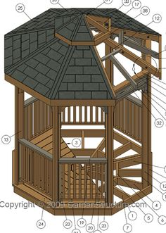 Gazebo Plans | Metric Gazebo Building Instructions