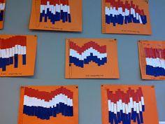 Juf Chantal: Nederlandse vlag French Days, Pocket Letters, Crafts For Girls, Eyfs, Alice, Art, Activities, Art Background, Kunst