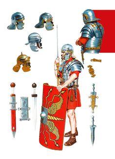 Legionnaire and his equipment, the end of the century. Legionnaire and his equipment, the end of the century. Roman Armor, Greek Pantheon, Ancient Armor, Roman Legion, Roman Soldiers, Roman History, 1st Century, Ancient Romans, Roman Empire