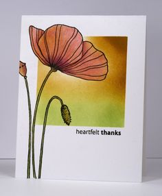 Poppy Time, Amazing (Penny Black), blending and then colored pencils for the poppy- bits & pieces