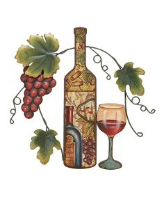 Take a look at this Red Grape & Wine Wall Art by UMA Enterprises on #zulily today!