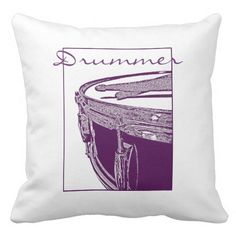 Drummer Pillow Drum Cushion Rock Band Decor Art