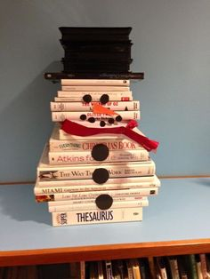 Creating your own snowman book sculpture is an easy way to get into the winter spirit! This display is perfect for libraries, classrooms, stores, you name it! ...