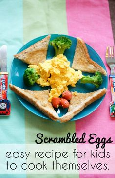 Easy scrambled eggs recipe for kids to cook themselves
