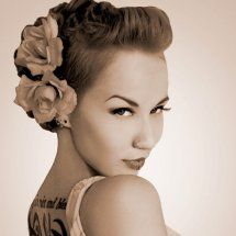 short haircuts for women shaved sides - Google Search