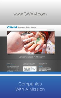 Companies with a mission, the image of the child's hand is the most compelling image on the page.