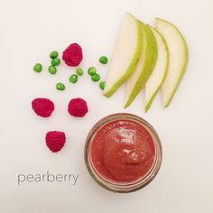 """and baby breastfeeding Pearberry Looking for a way to sneak in the all-time 'favorite' peas? Look no further, this little mixture paired with raspberries + pear will have your little Foodie Baby saying """"Mom/Dad, more PEAS, peas! Baby Puree Recipes, Pureed Food Recipes, Baby Food Recipes, Toddler Meals, Kids Meals, Toddler Food, Toddler Recipes, Making Baby Food, Healthy Baby Food"""