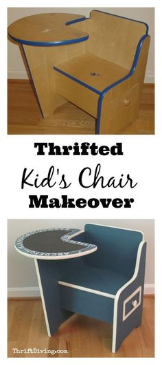Thrift stores are the best places to find affordable furniture, especially for kids! This thrift store kid's chair was only $5.00!  After some paint, this thrift store kid's chair makeover is an awesome creative spot for my sons!