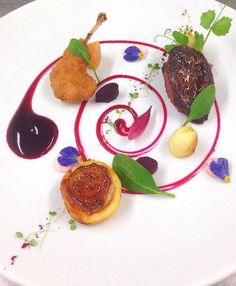 @CafeRoyalSJF - Pigeon, Beetroot and Confit Shallot #feedyoureyes July/Aug