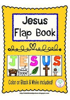 Jesus Freebie: These Flap Books are fun because the students lift each letter and write a condensed thought under each to create the whole account. This one is a very condensed version of the Life of Jesus. They can also be added to a lapbook.