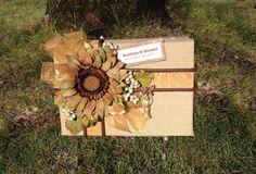 Rustic Wedding Card Box,sunflower wedding,burlap card box,wedding card box with slot,Rustic wedding invitation,burlap cake topper,custom by AlltheBestCardBoxes on Etsy