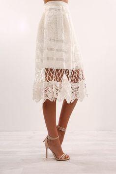 Break The Rules Skirt White
