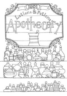 Shop Coloring Book : Your Passport to Calm @ Dover Publications Witch Coloring Pages, Coloring Pages For Grown Ups, Free Adult Coloring, Halloween Coloring Pages, Printable Adult Coloring Pages, Free Coloring Pages, Coloring Books, Book Of Shadows, Creations
