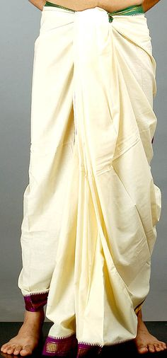 Dhoti - Formal attire in India for men http://www.jazzbenipal.com/IndianCostumes/uploads/img_44.jpeg
