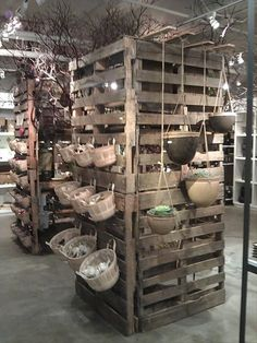 pallet shelves for stores and more ideas for pallets