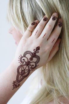 Bohemian henna temporary tattoo - a temporary tattoo by Tattoorary