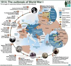 Infografik zur Chronologie des Ausbruchs des The Effective Pictures We Offer You About World History videos A quality picture can tell you many things. World History Lessons, Us History, History Facts, Ancient History, History Of Germany, Canadian History, European History, American History, Native American