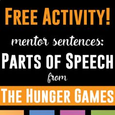 Mentor sentences from to kill a mockingbird pinterest mentor mentor sentences in the hunger games free activity to get students identifying the parts of fandeluxe Gallery