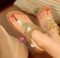 Sandalias con piedras!!