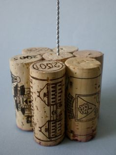 Tall Wine Cork Table Number Holder Photo by LittleHouseofDetails, $15.50 etsy.com