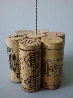 Tall Wine Cork Table Number Holder, Photo Holder or Menu Card Holder
