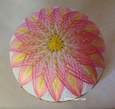 てまり「睡蓮」白地、ピンクの花 手まり 手毬 手鞠|その他インテリア雑貨|てまり - ねこ|ハンドメイド通販・販売のCreema