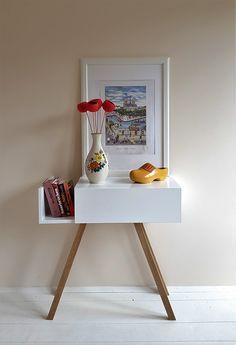 Komoda w stylu skandynawskim #komoda,#styl skandynawski,#biały, #konsola, #drewniana komoda, #wnętrze, #proste meble,