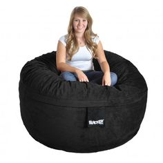 Shop for Slacker Sack Round Corduroy Bean Bag Chair. Get free delivery On EVERYTHING* Overstock - Your Online Furniture Shop! Extra Large Bean Bag, Large Bean Bags, Kids Bean Bags, Bean Bag Lounger, Bean Bag Sofa, Upholstered Furniture, Sofa Upholstery, Fabric Sofa