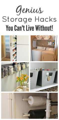 Storage Hacks that will save you space in your home!